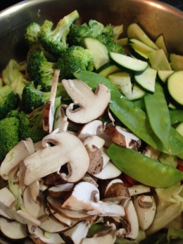 Vegetable Stir Fry and Egg Rolls: Recipe