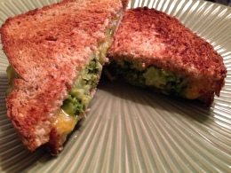 Grilled Broccoli Cheese Sandwich